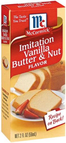 McCormick Imitation Vanilla Butter & Nut Flavor, 2-Ounce Unit (Pack of 6)
