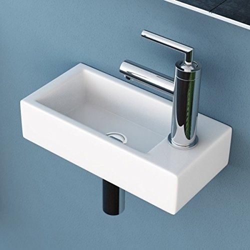 NEG Waschbecken Uno41H (extra klein/eckig/Armatur rechts)...