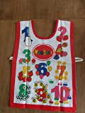 Cooksmart Kids Numbers Painting Apron PVC Coated Tabard