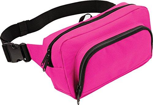 Bagbase-Marsupio da viaggio, Organiser accessorio-Cintura marsupio, da uomo rosa fucsia
