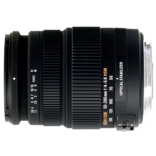 Sigma 50-200mm f/4.0-5.6 DC IF SLD Optical Stabilized (OS) Lens with Hyper Sonic Motor (HSM) for Canon Digital SLR Cameras