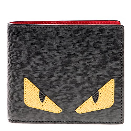 fendi-mens-buggie-saffiano-bifold-wallet-black-yellow