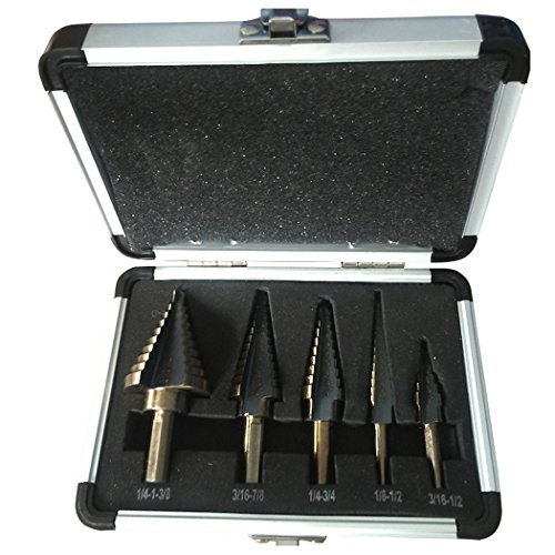 Sun Lorence Large Cobalt Step Drill Bits Tool 5Pcs Set (Annular Cutter 3 4 compare prices)