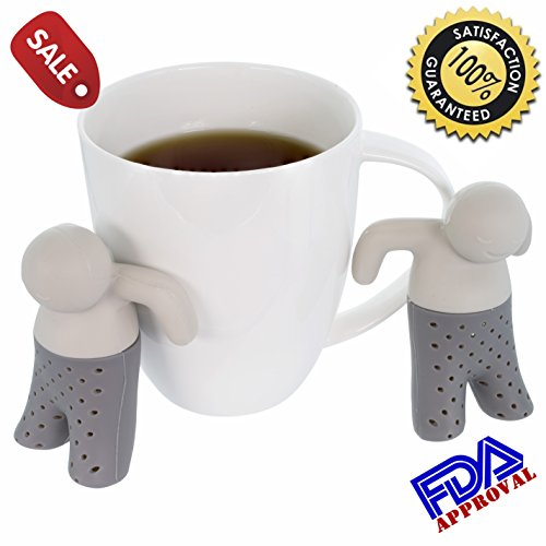 Great Features Of Wishstone Mr Tea Infuser Set Of 2 With Gift Box ,Tea filters for Loose Leaf Tea, S...