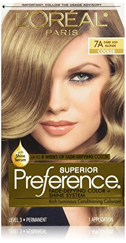 L'Oreal Paris Superior Preference Fade-Defying Color + Shine System, 7A Dark Ash Blonde (Packaging May Vary) (50 Shades Of Gray Merchandise compare prices)
