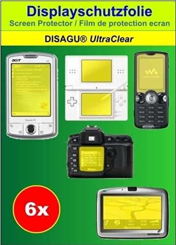6 x Ultra Clear Displayschutzfolie für PRAKTICA Luxmedia 7203