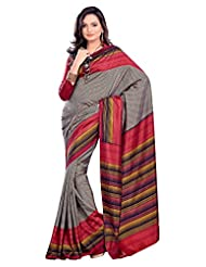Gugaliya's Bhagalpuri Polka Designer Stripped Fashion Art Silk Sari 18270