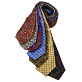 7Piece 100% Pure Silk Ties. Made in England. (114D)RRP£139.99
