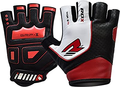 RDX Maya Hide Leather Gym Weight Lifting Gloves Cross Training Bodybuilding Fitness Workout by RDX