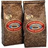 Finger Lakes Coffee Roasters, Organic Hazelnut Decaf Coffee, 100% Organic/Fair Trade, Ground, 16-ounce bags (pack of two)