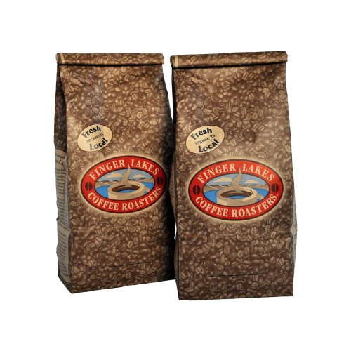Finger Lakes Coffee Roasters, Organic Hazelnut Coffee, 100% Organic/Fair Trade, Whole Bean, 16-ounce bags (pack of two)