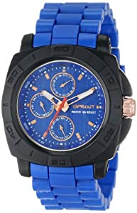 "Sprout Men's ST/3802BLBL ""Multi-Function"" Blue Corn Resin Watch"