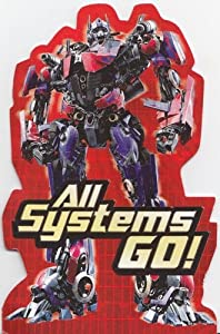 "Greeting Card Birthday Transformers ""All Systems Go!"""