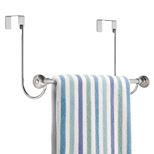 MDesign Over-the-Shower Door Towel Rack For Bathroom