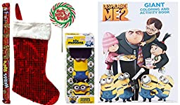 Christmas Despicable Me Minions Activity Gift Set with Candies (5 Pieces)