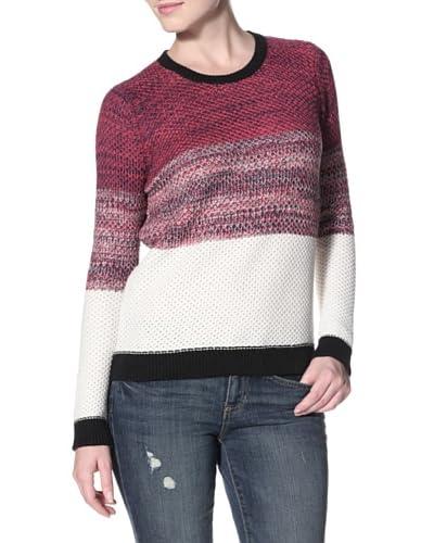 Shae Women's Moss Stitch Sweater  - Rhubarb Marl