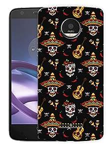 "Mexican GuitarPrinted Designer Mobile Back Cover For ""Motorola Moto Z"" (3D, Matte, Premium Quality Snap On Case)"