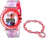 Disney Kids' FNF004T Frozen Digital Display Quartz Pink Watch Set with Bracelet Gift Set