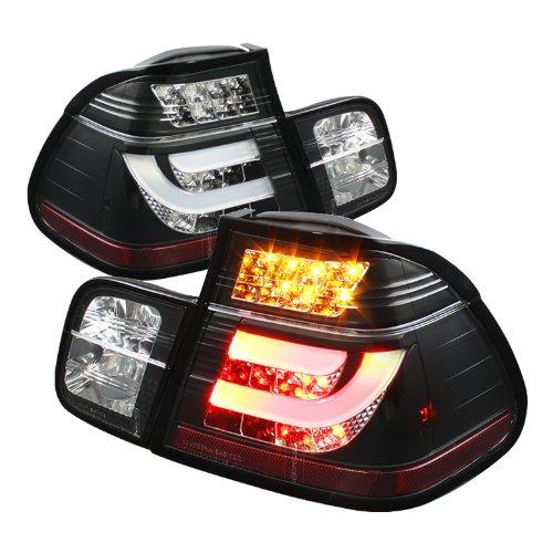 Spyder Auto Alt-Yd-Be4699-4D-Lbled-Bk Bmw E46 3-Series 4-Door Black Light Bar Style Led Tail Light