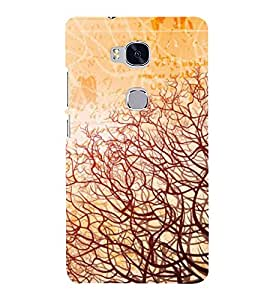 printtech Abstract Vines Design Back Case Cover for Hwawei Honor 5X