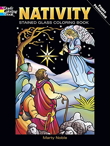 Nativity Stained Glass Coloring Book (Holiday Stained Glass Coloring Book) (Vol i)