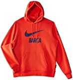 Barcelona Nike Mens Hoody red Rosso (Light Crimson/Loyal Blue) Size:XL