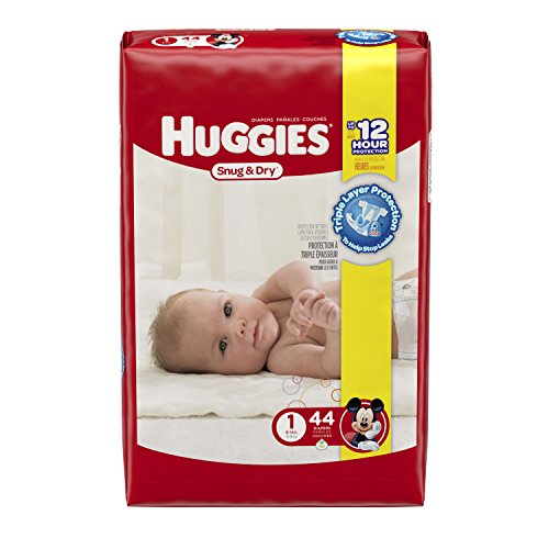 Huggies Snug & Dry Size 1 (44 count/8-14 pounds ) - 1