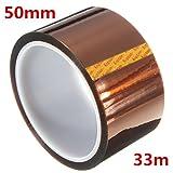 50ミリメートルの33メートル高温耐熱性ポリイミドゴールドの保護テープ