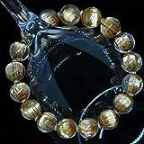 *ブラジル産 超太金針SA級天然石ルチルクォーツ、ゴールドキャッツアイ・タイチンルチル クォーツ(黄金色)11~12mm珠パワーストーン.ブレスレット(女性LL.男性ML~L.size)