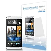 amFilm Premium HD Clear (Invisible) Screen Protectors for HTC One (HTC One M8 edition also available) (3-Pack) [Lifetime Replacement Warranty]