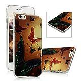 iPhone 6S Plus Funda - Lanveni® Chic Carcasa rígida ultrafina Ultra Slim Dura PC para iPhone 6S Plus 5.5 pulgadas Transparente Case - Patrón mariposa Diseño