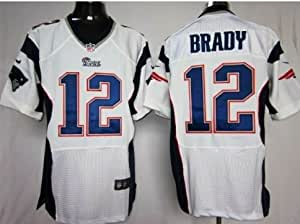Tom Brady New England Patriots White Jersey 52 XXL
