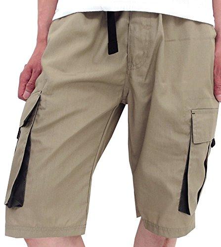 (マルカワジーンズパワージーンズバリュー) Marukawa JEANS POWER JEANS VALUE ショートパンツ メンズ ハーフパンツ カーゴ 春 夏 4color LL ベージュ