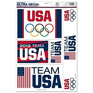 Olympics 2012 Team USA 11x17 Ultra Decal Sheet (Removable/Reusable)
