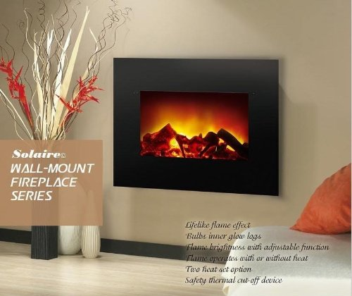 """34"""" Contemporary Wall Mount Electric Fireplace 1500W 5000"""