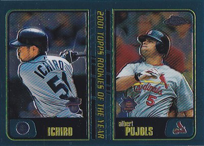 MLBカード【イチロー】【アルバート プホルス】2001 Topps Chrome Traded 2001 Rookie of The Year(Ichiro)(Albert Pujols)
