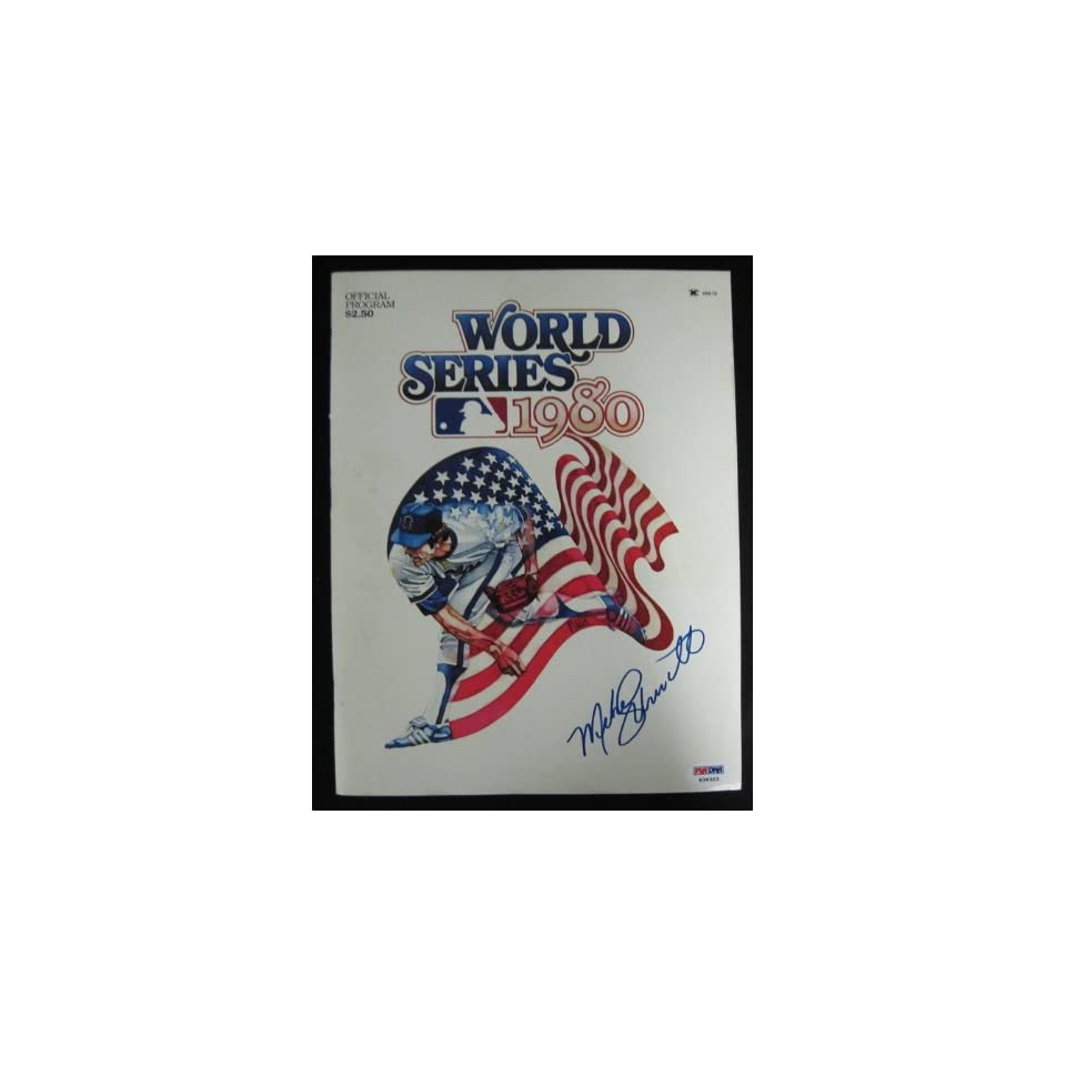 Mike Schmidt Phillies Signed 1980 World Series Program