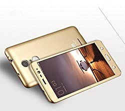 Casecart Bb-218 Front And Back Cover All-Round Protective Slim Fit Case Cover For Xiaomi Redmi Note 3 With Tempered Glass (Gold)