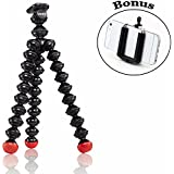 Joby Magnetic Tripod with Ivation Universal Smartphone Tripod Mount Adapter for Point and Shoot, Compact System Cameras, Action Cameras and Smartphones