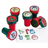 Fun Express Holiday Stampers (24 Pack) Christmas Stamps Assortment
