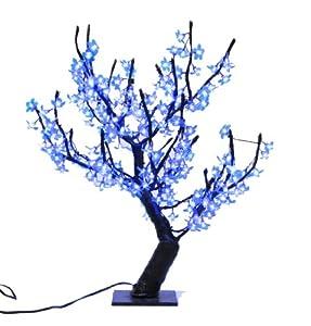 Hi-Line Gift Ltd. 39009-BL 31.5-Inch high Indoor/ outdoor LED Lighted Trees with 196 LEDS, Blue