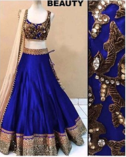 CmDeal-Blue-Color-Party-Wear-Semi-Stitched-Embroidered-Silk-Lehenga-Choli-With-Heavy-Designer-Silk-Top-5197LANJ68-BLUE