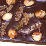 Ilze's Chocolat 60% Dark Chocolate Bar - with lots of caramelised hazelnut and caramelised orange peel pieces - 160g