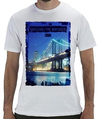Geevan's Brooklyn Bridge - Funky Graphic Printed T Shirt (Large)