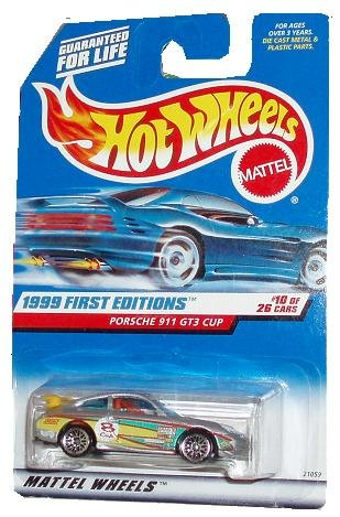 Hot Wheels 1999: First Editions Porsche 911 GT3 CUP 1/64 scale (10 of 26) - 1