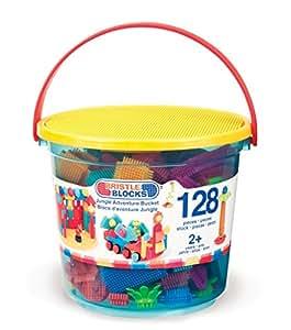 Bristle Blocks Jungle Adventure Bucket 128 Pieces