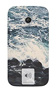Back Cover for Moto E (2nd Gen) Beach Waves