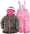 Pink Platinum Little Girls 4-6X Two Piece Cheetah Print Snowsuit