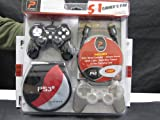 Playstation 3 Game Controller + Protector Kit for Sony PS3- 5 in 1 Pak