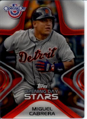 2014 Topps Opening Day Stars 3-D Baseball Card #Ods-2 Miguel Cabrera Detroit Tigers